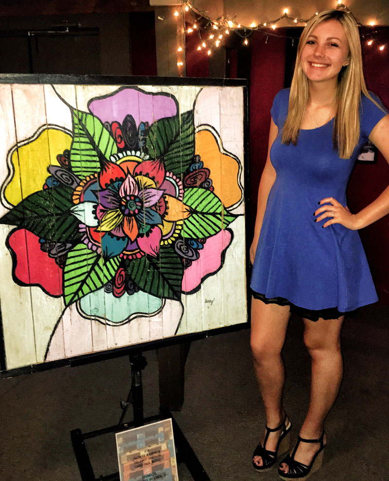 Delaney Simpson artist at KY State BBQ Festival